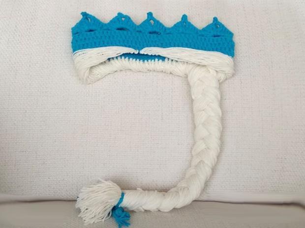 Háčkovaná korunka snehovej kráľovnej Elzy 15
