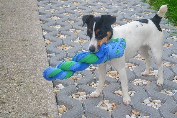 Hračka pre psa z vyradených tričiek 1