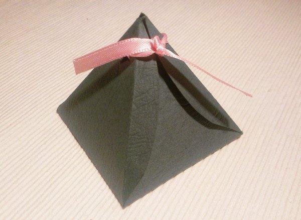 Papierová krabička - pyramída - foto postup