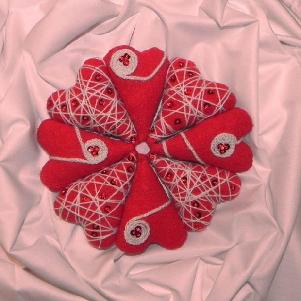 Láskou plnené srdiečka - dekorácia , Valentínske dekorácie