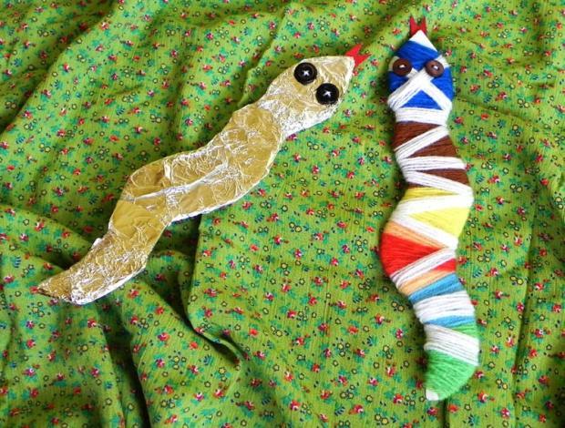Tvoríme si s detičkami - hadík Alobalík a hadík Motáčik , Tvoríme s deťmi a pre deti