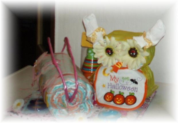 Plienkova torta v tvare sovy a kabelky, Tvoríme s deťmi a pre deti