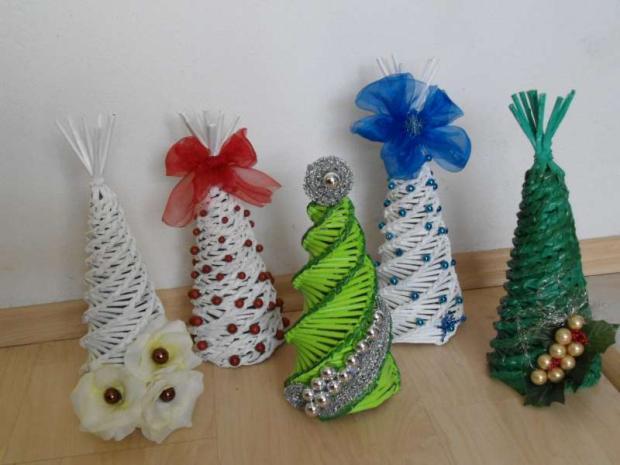 745596264 vianočné stromčeky, Papierové pletenie | Artmama.sk