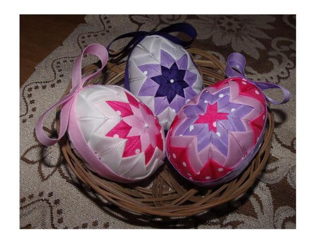 vajíčka patchworkové, Veľkonočné dekorácie