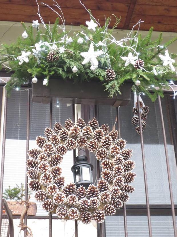 Věnec ze šišek, Vianočné dekorácie