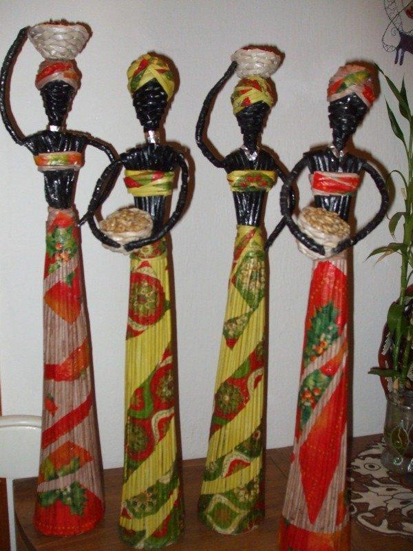 domorodkyne, Papierové pletenie