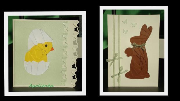 Veľkonočné - 2, Pohľadnice, Scrapbook, Quilling