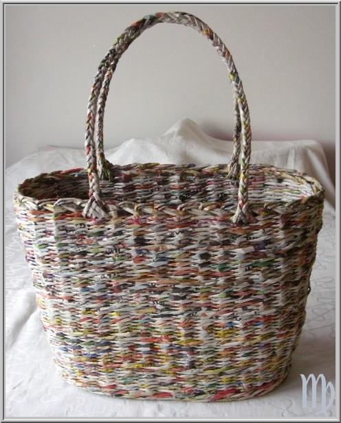 taška, Papierové pletenie