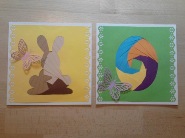 ... veľkonočné 1, Pohľadnice, Scrapbook, Quilling