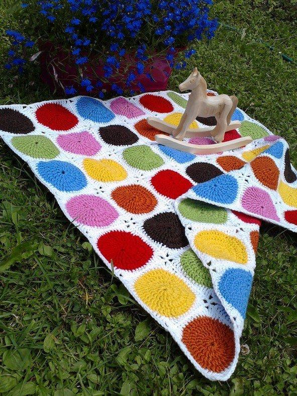 háčkovana deka lentilkova