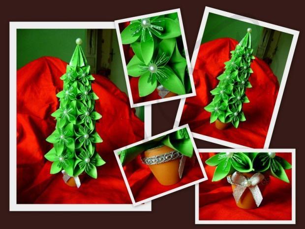 KUSUDAMA - Vianočný stromček, Origami a Kusudama