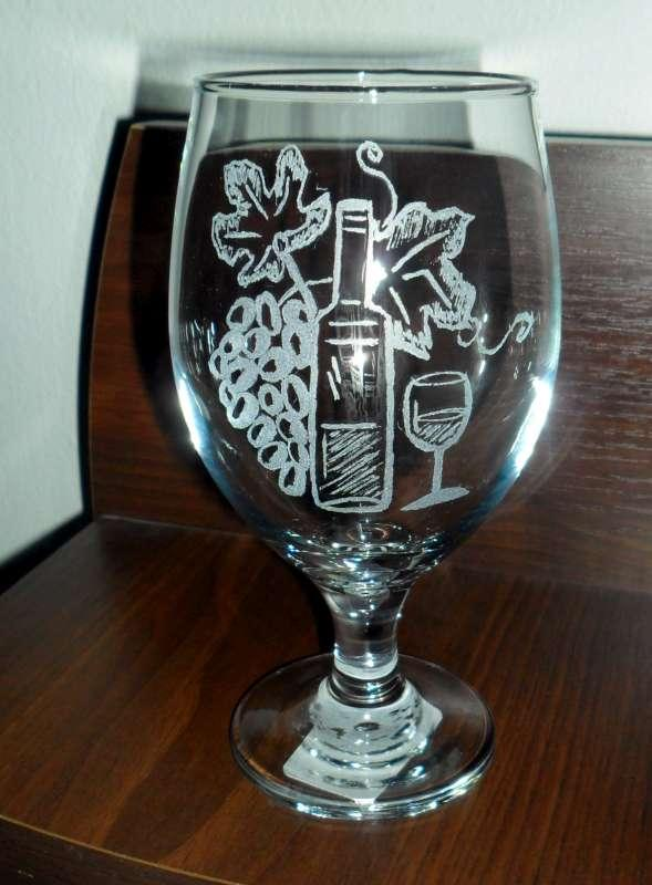 pohár, Na skle maľované
