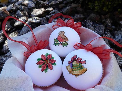 Vianočné gule vyšívané, Autor: 7mimmi