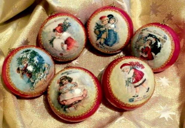 Vianočné gule viktoriánske, Autor: pegybaby