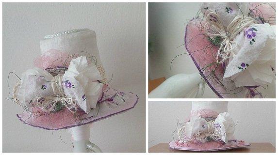rozprávkový klobúčik 20X11...dekorácia, Tvoríme s deťmi a pre deti