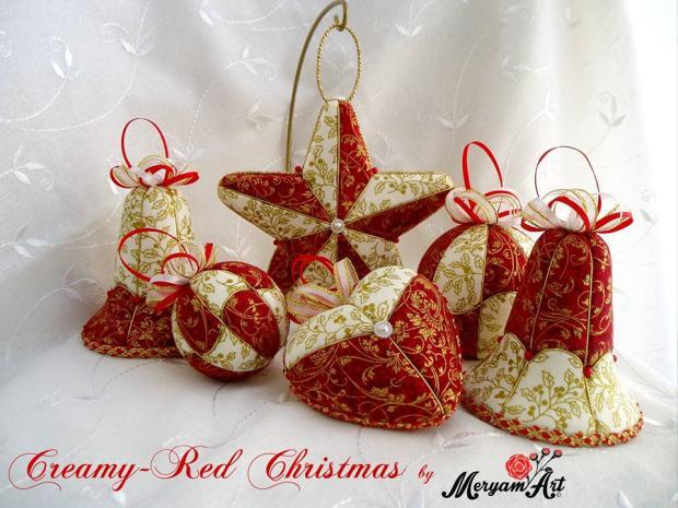 Zlato červený set patchwork, Autor: meryam