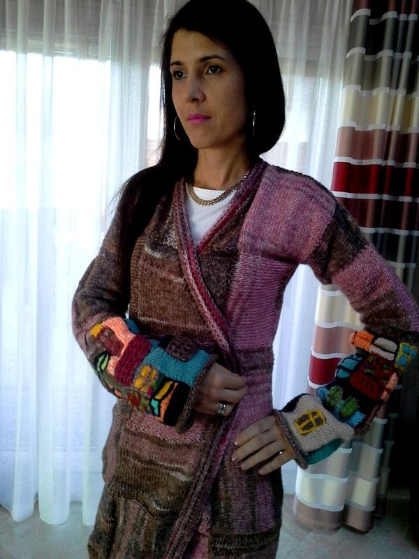 6117aa35eb93 pletený sveter  modulový