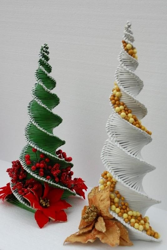 vianočný stromček v mojom prevedení:-), Papierové pletenie