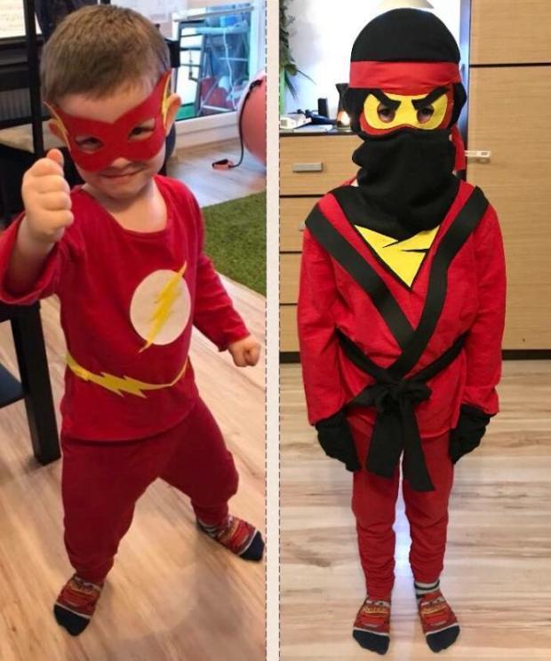 Karnevalové masky Flash a Ninjago, Karnevalové masky