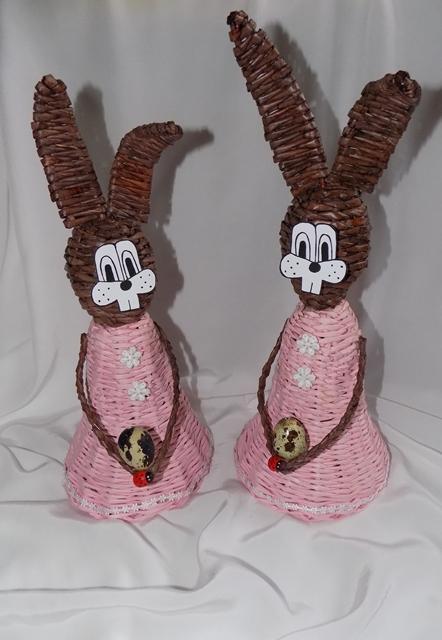 Zajačice, Papierové pletenie