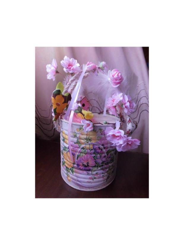 Jarný košík veľký, Veľkonočné dekorácie