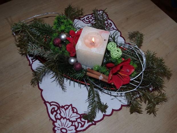 Vianočná ikebana, Aranžovanie