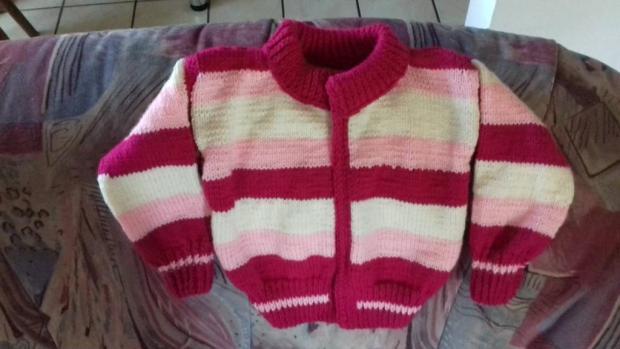 pletený svetrík , Pletenie