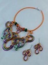 Drôtovaná sada šperkov , Drôtovanie 2