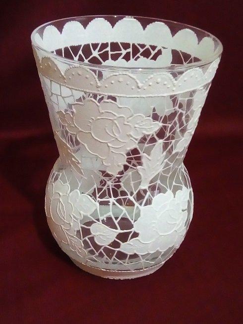 váza, Na skle maľované