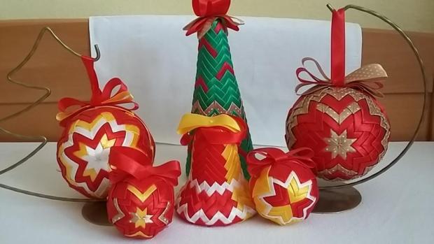 Vianočné ozdoby, Falošný patchwork