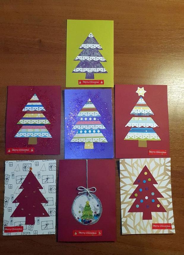 Vianočné pohľadnice, Pohľadnice, Scrapbook, Quilling