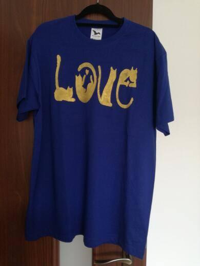malované tričko2, Maľovaný textil