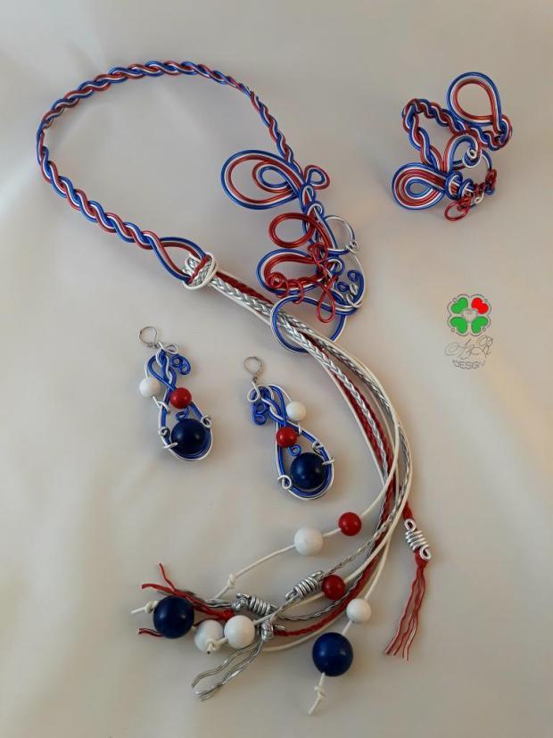 """Autorská sada šperkov z môjho   """"Drôtovania s dúhou""""  , Drôtovanie 3"""