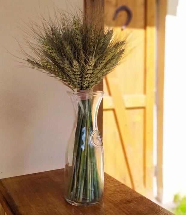 Jednoduchá kytica z obilia