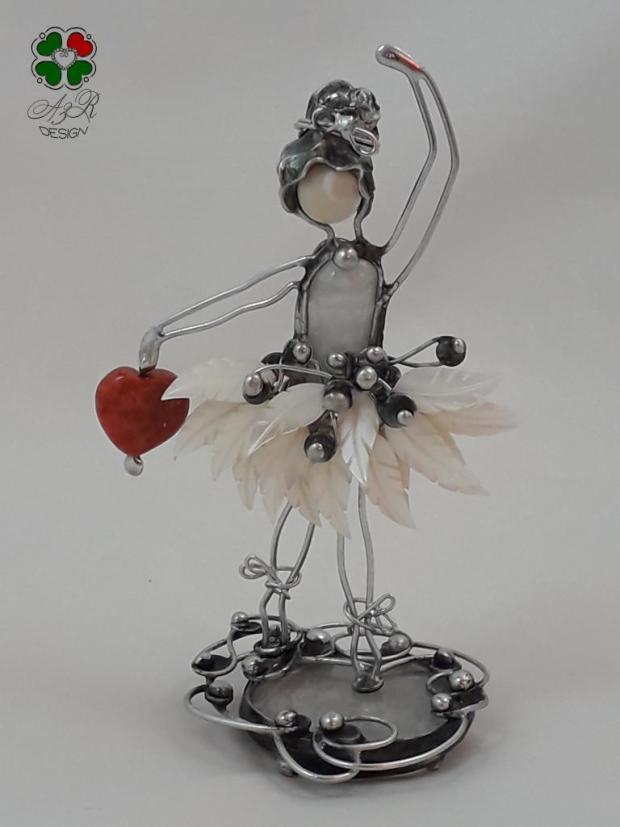 BALETKA - malá milá dekorácia - malý šperk do interiéru , Drôtovanie 2