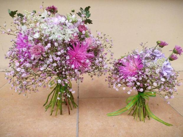Malá a veľká ružová kytica, Aranžovanie 2
