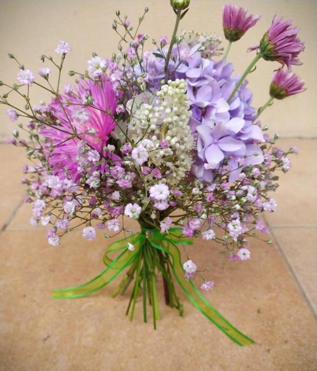 Malá a veľká ružová kytica, Aranžovanie 3