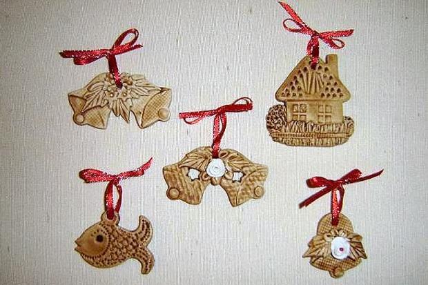 Vianočné dekorácie zo slaného cesta