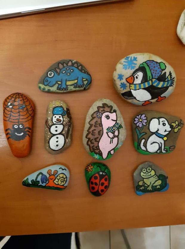putovné kamene, Tvoríme s deťmi a pre deti