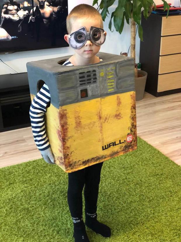 Wall-e z kartónovej krabice, Karnevalové masky