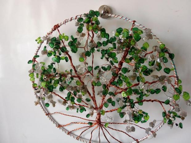 stromčeky šťastia trochu inak, Drôtovanie