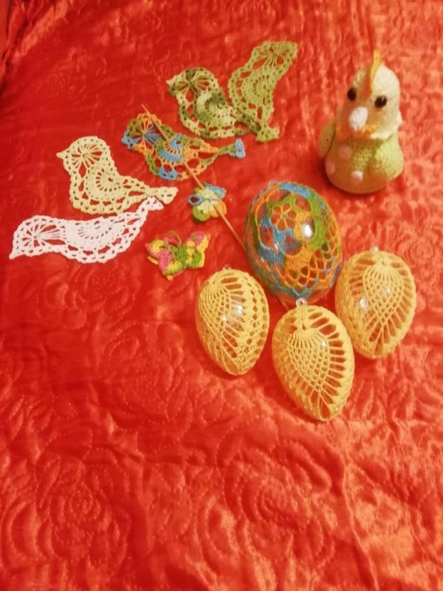 Háčkovance na Veľkú noc, Veľkonočné dekorácie
