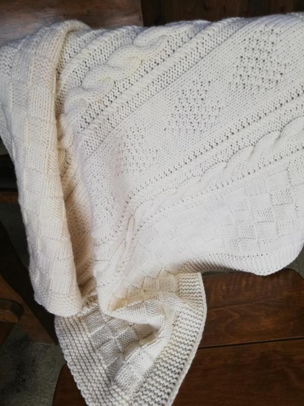 Pletená deka pre bábo , Pletenie