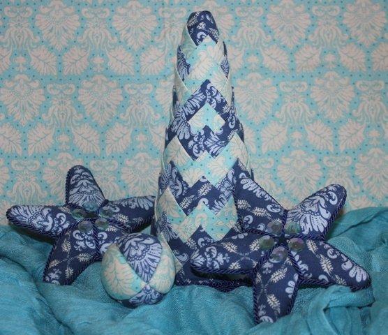 V modrom štýle , Falošný patchwork