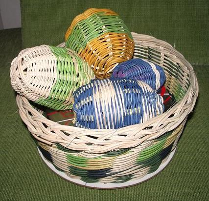 pokus o vajíčka a guličku, Pletenie z pedigu