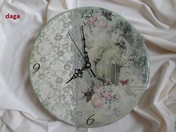 Vintage hodiny - decoupage