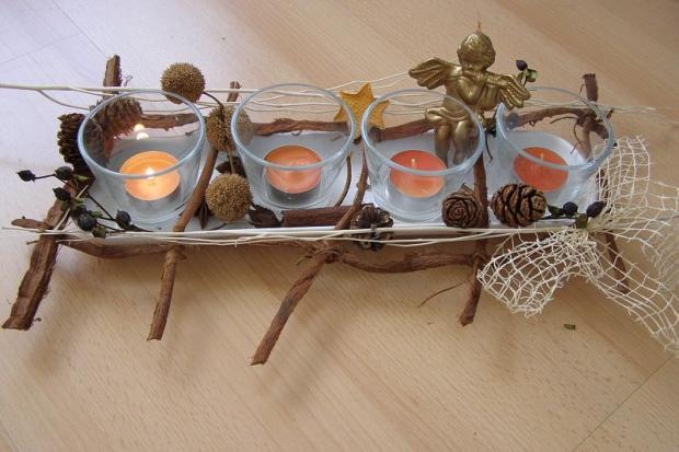 Jednoduchý svietnik na advent, Autor: JuliaLV