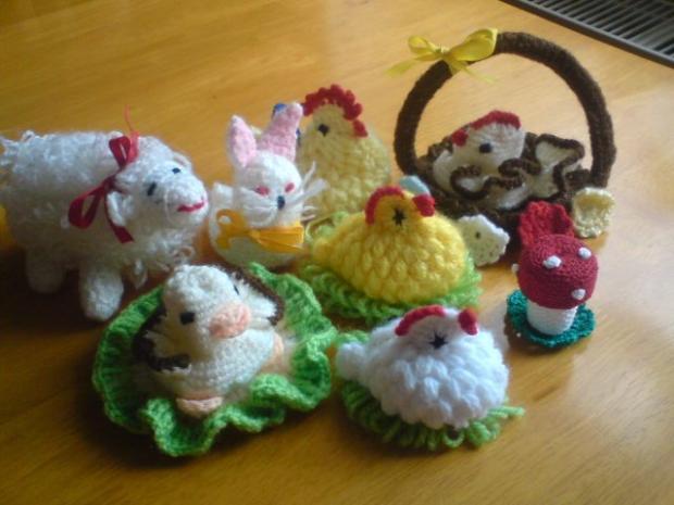 háčkované veľkonočné zvieratká, Veľkonočné dekorácie