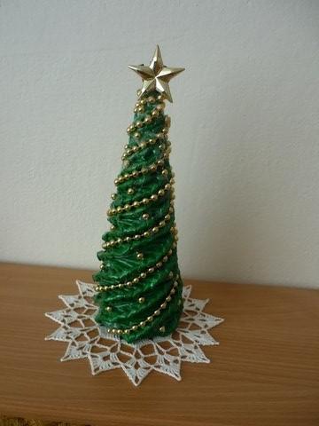 39fac4de7 Vianočný stromček, Papierové pletenie | Artmama.sk