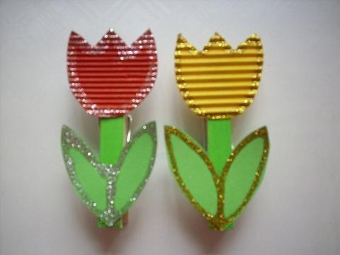 Ozdobné štipce s tulipánmi